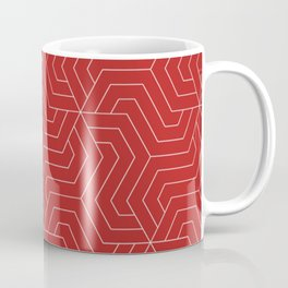 Firebrick - red - Modern Vector Seamless Pattern Coffee Mug