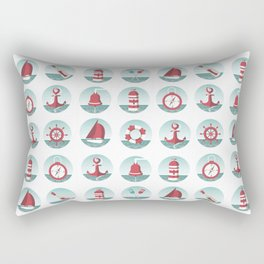 Nautical seamless pattern with sea elements Rectangular Pillow