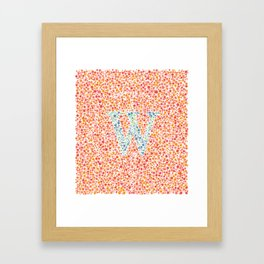 """W"" Eye Test Full Framed Art Print"