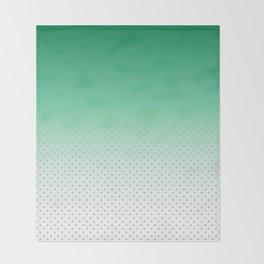 Modern forest green gradient pastel polka dots Throw Blanket