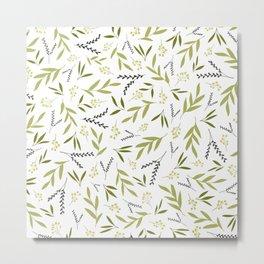 Olive Green Metal Print
