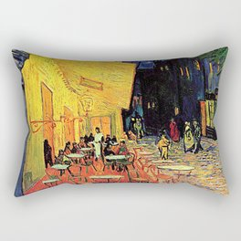 The cafe terrace on the place du forum, Arles, at night, by Vincent van gogh.  Rectangular Pillow