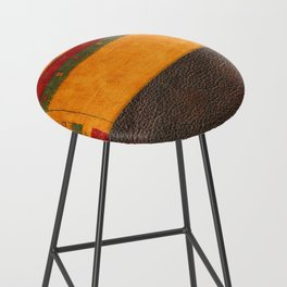 N68 - Oriental Traditional Moroccan Style with Original Leather Cover Artwork Bar Stool