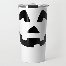 Cute Jack O'Lantern Face Travel Mug