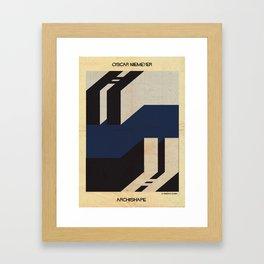 shape NIEMEYER Framed Art Print