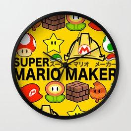 Super Mario Maker Wall Clock