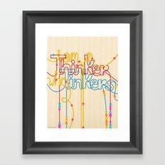 Tinkering Thinker Framed Art Print