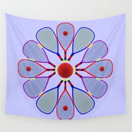 Racquetball Design Wall Tapestry
