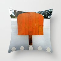 popsicle Throw Pillows featuring Popsicle  by Photaugraffiti