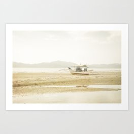 Waiting for the tide Art Print