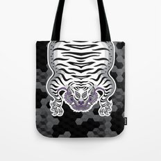 TIBETAN TIGER WHITE (black) Tote Bag