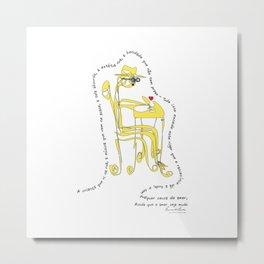 Fernando Pessoa 1 Metal Print