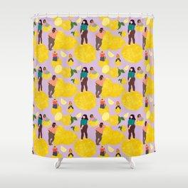 Lemon Babes Shower Curtain