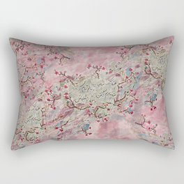 doodle: persian poem Rectangular Pillow