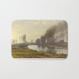 The Petite Bras of the Seine at Argenteuil by Claude Monet Bath Mat
