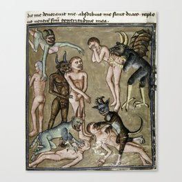 Demons in hell Canvas Print
