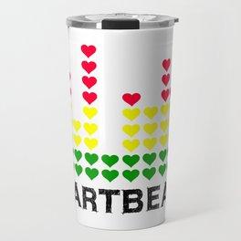HeartBeats (Black) Travel Mug