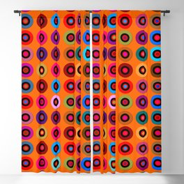 Orange Theorem Blackout Curtain