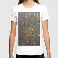 champagne T-shirts featuring Gold & Champagne by Kat Dermane