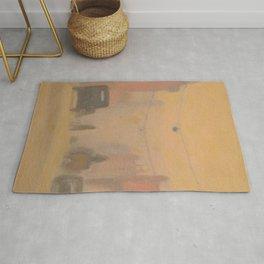 City Street Melbourne - Clarice Beckett - Australian abstract Realism Rug