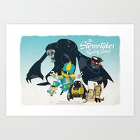 The Stereotykes Blue Poster Art Print