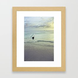 WATERcolorSHORE Framed Art Print