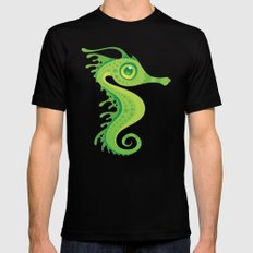 Leafy Sea Dragon Seahorse Mens Fitted Tee Black MEDIUM