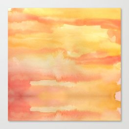 Apricot Sunset Canvas Print