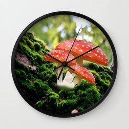 Low Poly Mushroom Wall Clock