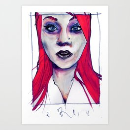 Lady Icarus Art Print
