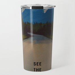 Rocky Mountains Canada Vintage Travel Poster Travel Mug
