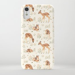 Wildflower Fawn iPhone Case