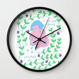 Still Growing Wall Clock