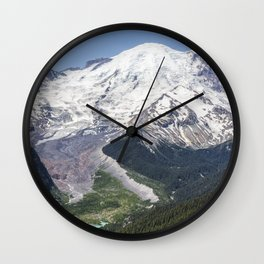 Mount Rainier on the Sunrise Side Wall Clock