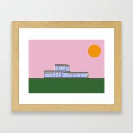 Blue Bauhaus Framed Art Print