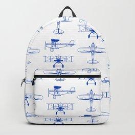 Blue Biplanes Backpack