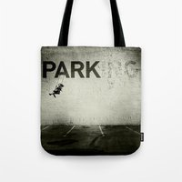 banksy Tote Bags featuring Banksy Tag by Adam Reynolds