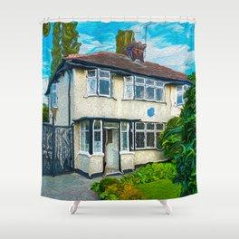 John's Boyhood Home Shower Curtain