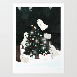 Christmas Spirits Art Print