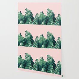 Blush Banana Leaves Dream #3 #tropical #decor #art #society6 Wallpaper