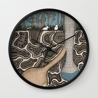 sisters Wall Clocks featuring SISTERS by Nora