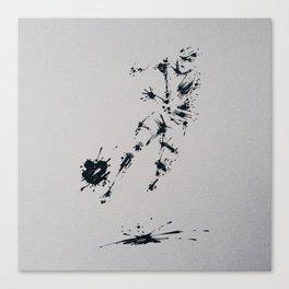 Splaaash Series - Ball Hater Ink Canvas Print