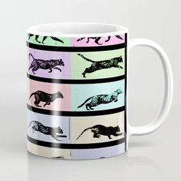 Time Lapse Motion Study Cat Black and Color Cat Mom Cats Coffee Mug