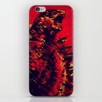 monster iPhone & iPod Skins featuring Monster by Balazs Pakozdi