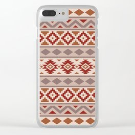 Aztec Essence Ptn IIIb Taupe Creams Terracottas Clear iPhone Case