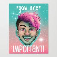 markiplier Canvas Prints featuring Markiplier - You Are Important by thetinytaco