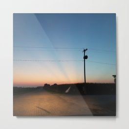 Streaked sunset Metal Print