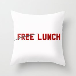 FREE LUNCH 3 Throw Pillow
