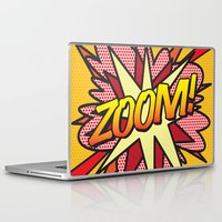 comic book Laptop & iPad Skins featuring Comic Book ZOOM! by The Image Zone