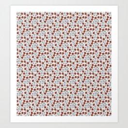 Rad Red Rounds Art Print
